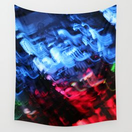 Blue & Red Abstract Wall Tapestry