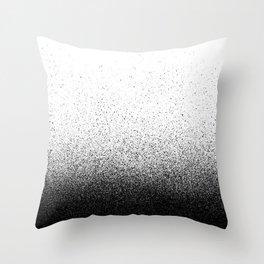DUST / black Throw Pillow