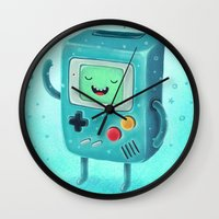 game Wall Clocks featuring Game Beemo by Lime