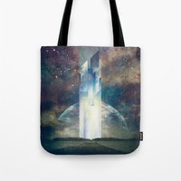 fault Tote Bags featuring It´s your fault by HappyMelvin