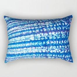 Ocean Fanatasy Blue Seashell Texture Rectangular Pillow