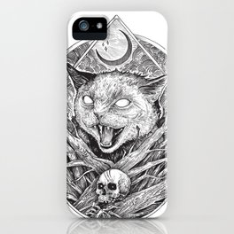 Wild cat b/w iPhone Case