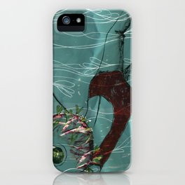 Blue Swimmer no. 1 iPhone Case