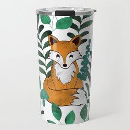 Red Foxes (White) Travel Mug