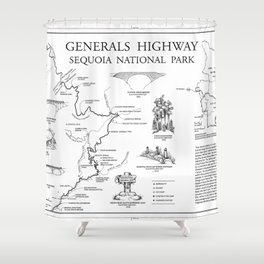 Generals Highway - Generals Highway, Three Rivers, Tulare County, CA Shower Curtain