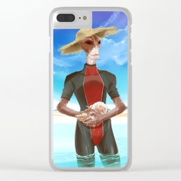 ME- Somewhere sunny Clear iPhone Case