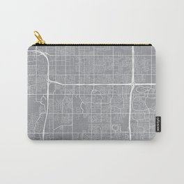 Tempe Map, Arizona USA - Pewter Carry-All Pouch