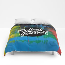Color Chrome - believe in yourself graphic Comforters