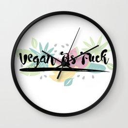 Vegan As F##k Wall Clock