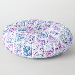 OCEAN PROTECTRESS Lavender Mermaid Scales Floor Pillow