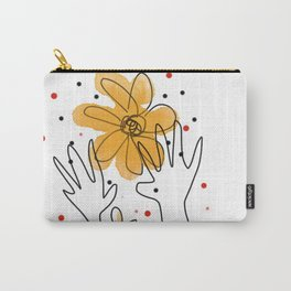 HAND AND FLOWERS Carry-All Pouch