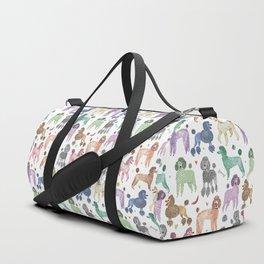Poodles by Veronique de Jong Duffle Bag
