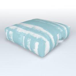 Shibori Stripe Seafoam Outdoor Floor Cushion