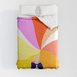 Girl Power - Rainbow Hair #girlpower Comforters