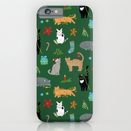 Christmas Cats iPhone Case