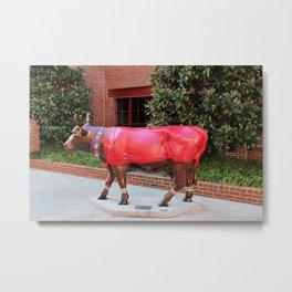 Moo Sai Warrior Cow Metal Print