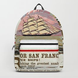 A New and Magnificent Clipper for San Francisco. Merchant's Express Line of Clipper Ships! Backpack