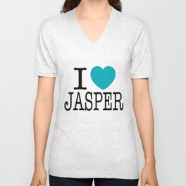 I LOVE JASPER PITTARD #29  Unisex V-Neck