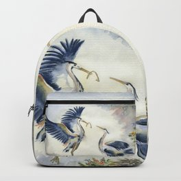 Great Blue Heron Couple Backpack
