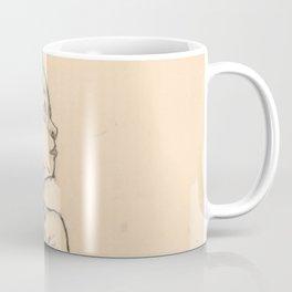 "Egon Schiele ""Seated Nude Girl Clasping Her Left Knee"" Coffee Mug"