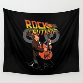 Rock to the Future Wall Tapestry