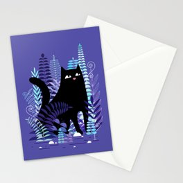 The Ferns (Black Cat Version) Stationery Cards