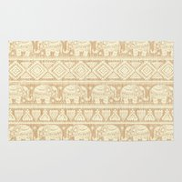 elephants Area & Throw Rugs featuring ELEPHANTS by Oksana Smith
