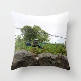BucketHead Throw Pillow