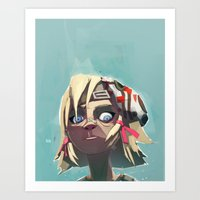 borderlands Art Prints featuring Borderlands - Tiny Tina by BEN Olive