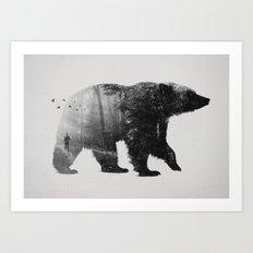 Into the Wild b&w Art Print
