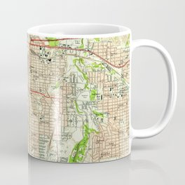 Vintage Map of Fort Worth Texas (1955) Coffee Mug