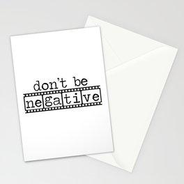 Photographers Don't Be Negative Camera Film  Stationery Cards