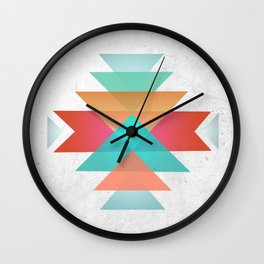 Geometric abstract indigenous symbol Wall Clock