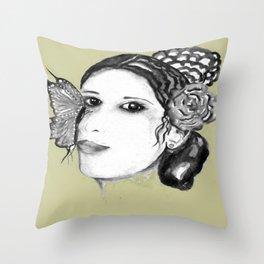 THE SPANISH WOMAN / ORIGINAL DANISH DESIGN bykazandholly  Throw Pillow