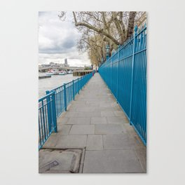 London riverside path Canvas Print