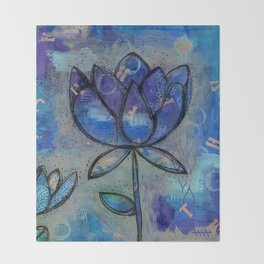 Abstract - Lotus flower - Intuitive Throw Blanket