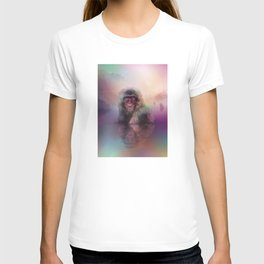 Macaque (Low Poly Multi II Snow Monkey) T-shirt