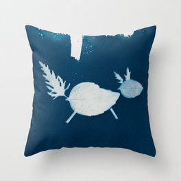 Cyano-fox Throw Pillow