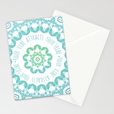 Your Vibe Attracts Your Tribe Stationery Cards