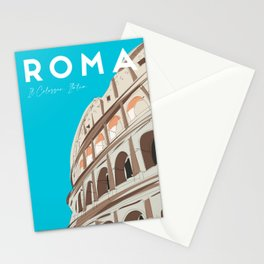 Rome, Italy Colosseum / Roma Il Colosseo, Italia Travel Poster Stationery Cards