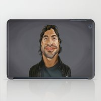 celebrity iPad Cases featuring Celebrity Sunday ~ Javier Bardem by rob art | illustration