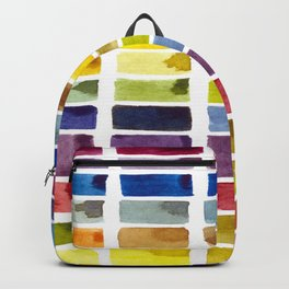 Watercolor Rainbow Tile Backpack