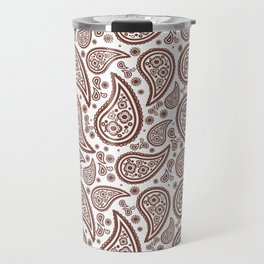 Paisley (Brown & White Pattern) Travel Mug