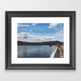 Looking Out To Fontana Dam • Appalachian Trail Framed Art Print