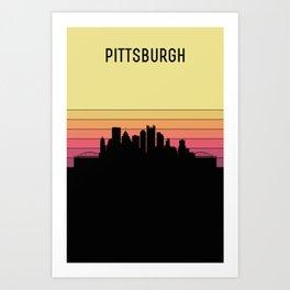 Pittsburgh Skyline Art Print