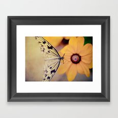 {Gentle Visitor} Framed Art Print