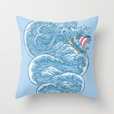 hello little dragon Throw Pillow