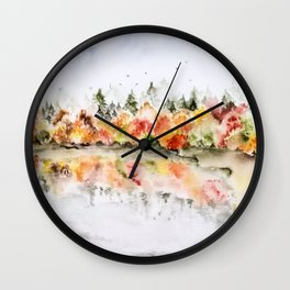 Autumn reflexions Wall Clock