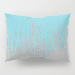 Concrete Fringe Aqua Pillow Sham