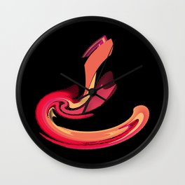 Strike of the Cobra Abstract Wall Clock